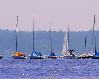 Sailboat Print, Saratoga Springs, Upstate New York, Sailing, Boating, Water Recreation, Sailing Art, Sailing Decor, Sailing Art, Wall Art