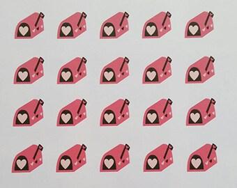 Pink Mailbox Stickers