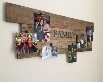 Custom Pallet Wood Photo Hanger