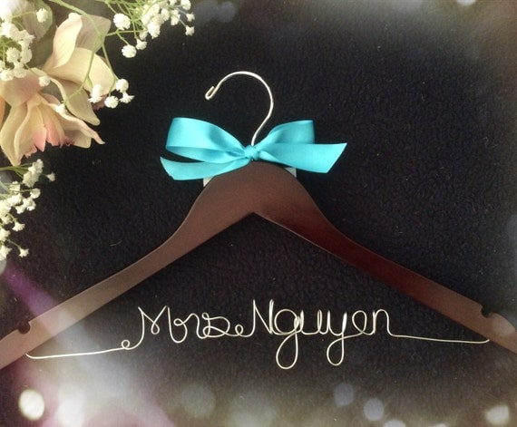 Wedding Gift Opening : Opening !!l-Personalized Bridal Hanger,Customized Hanger, Wedding Gift ...