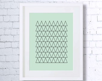 Triangles,Geometry Print, Multiple,Repetition,Abstract,Art Print,Printable Art,Downloadable,Wall Decor,Minimalist Art,Mint,Minimal Art
