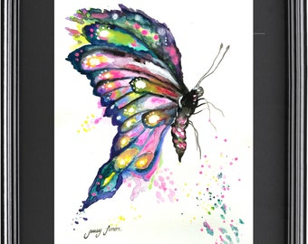 """Original Watercolor Painting 2-Butterfly  9""""x12"""""""