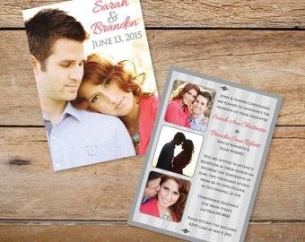 "5"" x 7"" Custom Photo Wedding Invitations"