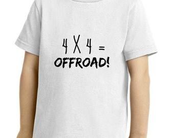 4X4=OFFROAD! Children's T-Shirt!