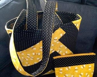 Bees and polka dot bag