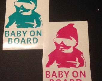 Baby Carlos (from the hangover) baby on board decal (1 sticker total)