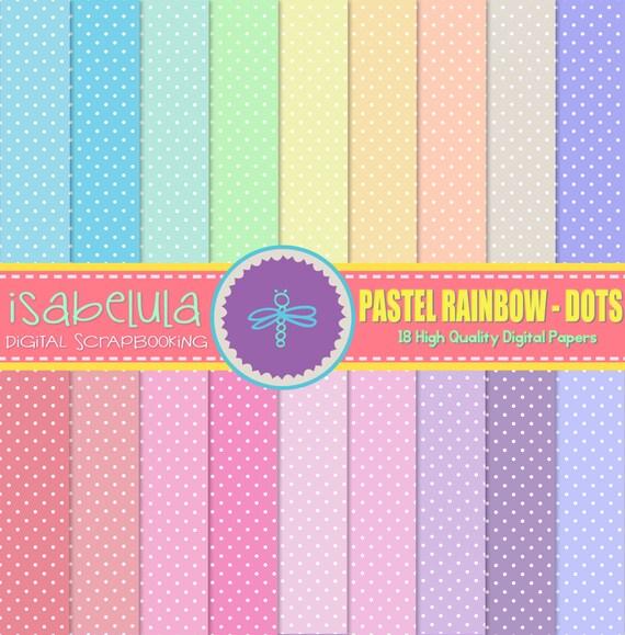 Papeles digitales de colores del arco iris en tonos pastel - Tonos de colores ...