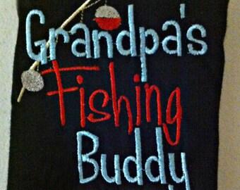 Grandpas Fishing Buddy Shirt Baby