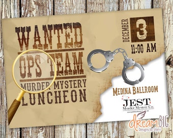Mystery Dinner Birthday or Corporate Event Invitation // Private Party ...