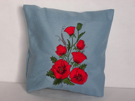Light Blue Pillow Cover Throw Pillow 12x12 inch by YourHomeMarket