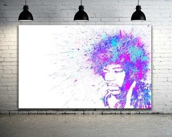 Jimi Hendrix Artwork / Graffiti Art Canvas / Street Art Canvas