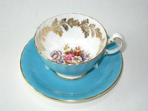 AYNSLEY Tea Cup & Saucer