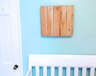 Reclaimed Wood Wall Hanging 17x16 - Custom Sizing Available!