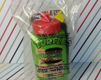 Vintage 1993 Burger King Teenage Mutant Ninja Turtles Sealed Water Bootle
