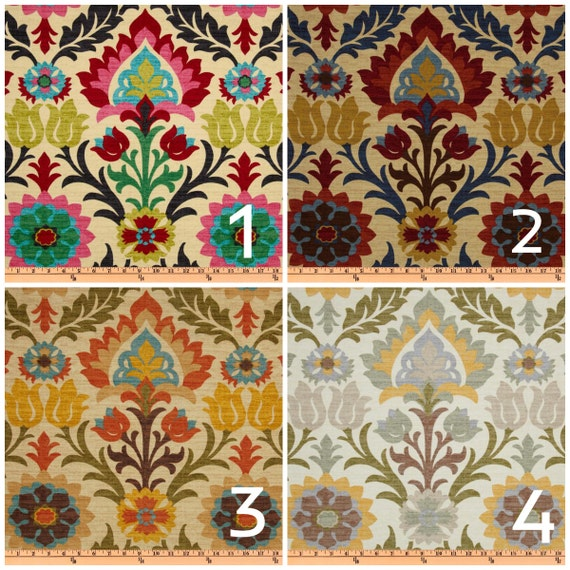 PAIR of 2 window curtains modern window panels floral window curtains ...