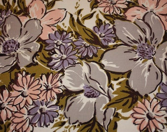 Lovely Floral Printed Simtex Vintage Tablecoth