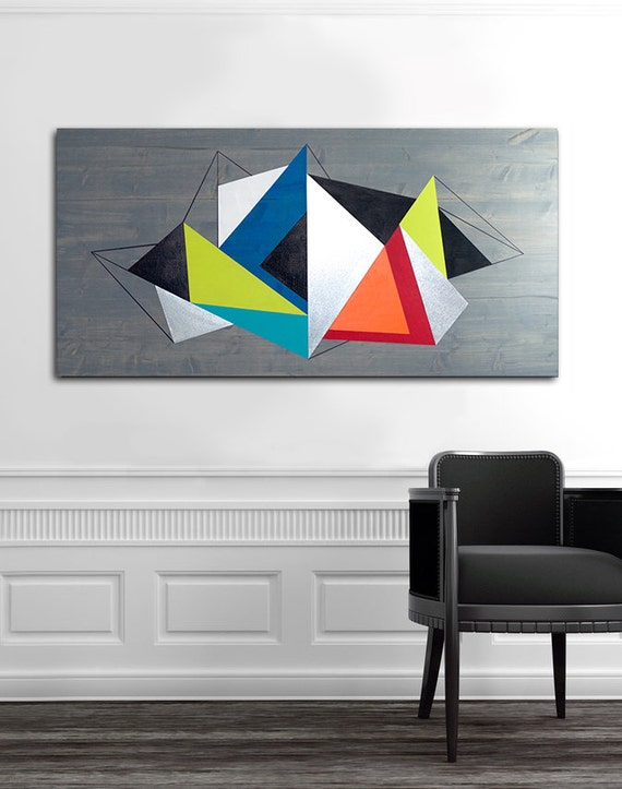 Wall Art Design Etsy Coupon Code : Metal wall art geometric modern wood by lauraashleywoodart