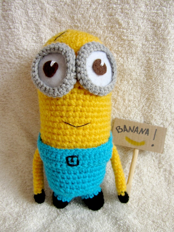 Amigurumi Minion Etsy : Amigurumi Minion Cute Minion from Movie Crochet Minion Toy