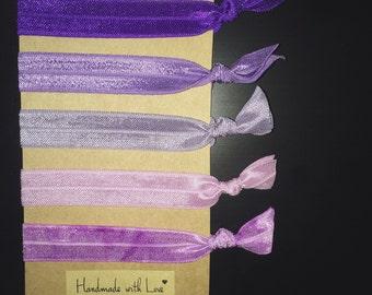 Purple Hair Ties (Set of 5)