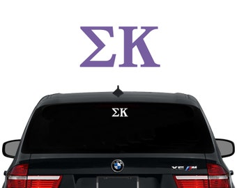 SK Sigma Kappa Greek Letters Sorority Decal Laptop Sticker Car Decal