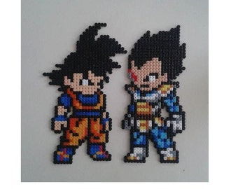 Vegeta (Beijita) / Goku from Dragon Ball Z perler beads sprite - Végéta/ Sangoku de Dragon Ball Z  en perles à repasser