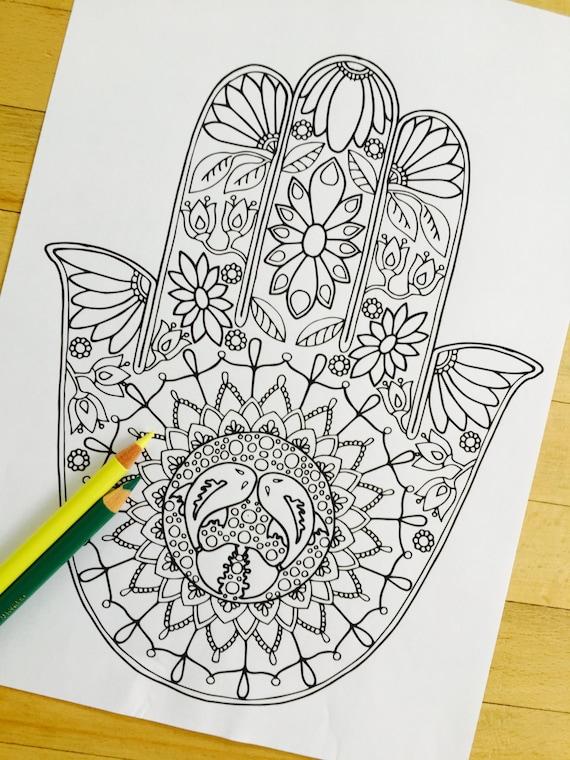 hamsa eye coloring pages - photo#8