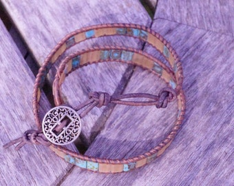 Square tile wrap bracelet
