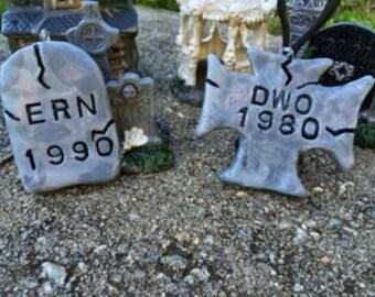 Personalized Miniature Gravestone