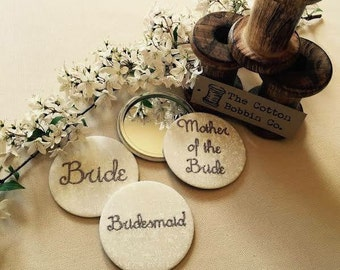 Bride bridesmaid mother of the bride pocket mirror favour gift thank you wedding