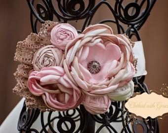 Couture Sashes. Shabby Chic Bridal Sash, Maternity Sash, Photography Prop