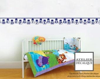 Wall Sticker no. E-016 - Alphabet Bulb - Child Decal - Free Shipping in Canada.
