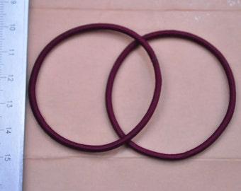 30pcs wine hair elastic cord silk/satin cover rubber cord  diameter 2.3mm