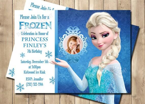 Frozen Elsa Birthday Invitation Frozen Birthday Invitation