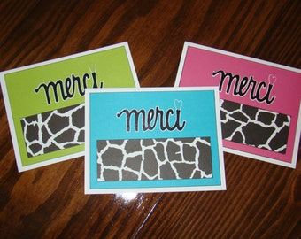 Merci Cards (Thank You)