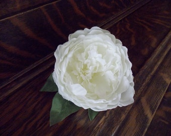 Silk Peony Corsage - Wedding Corsage - Prom Corsage - Rustic Corsage - Country Corsage - Shabby Chic Corsage - Vintage Inspired Corsage