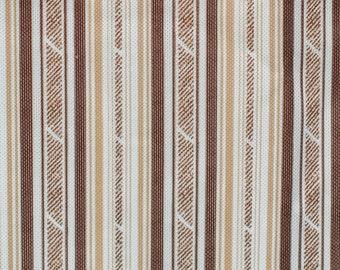 Retro Stripes Brown Beige 1960s Fabric - Dressmaking
