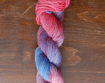Hand dyed varigated yarn Norwegian Wool