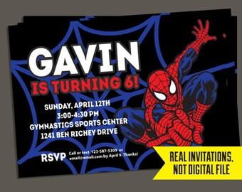 Spiderman Invitation - Spiderman Birthday Invitation - Spiderman