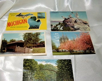 State Postcards 10 Various Postcards from Ohio, Utah,Michigan and New England