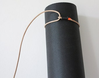 Yoga Mat Strap / Carrier / Sling  - Leather