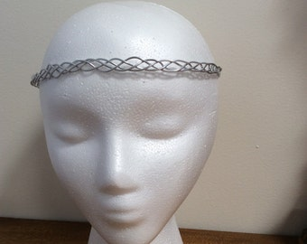 Braided Silver Circlet, celtic circlet, elven circlet, Renaissance Circlet, Costume accessory, costume headpiece, fairy, fae crown