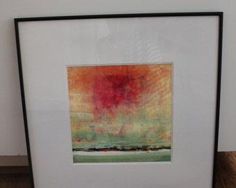 Abstract Modern Art Print,  Original Mixed Media