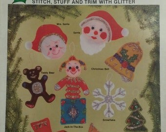 Vintage Christmas Craft Instruction Booklets, Holiday Craft ...