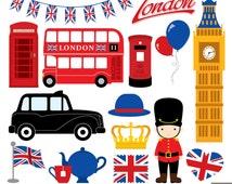 London Clipart, British Clipart, England Clipart