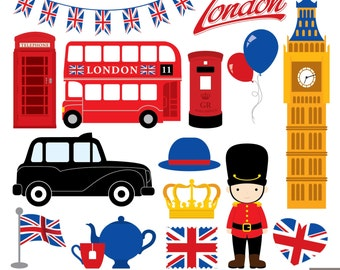 London Clipart, British Clipart, England Clipart