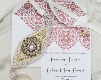 Argentinian inspired wedding invite and RSVP