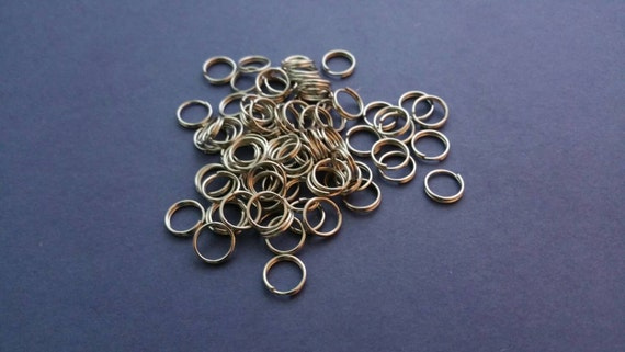 10mm SPLIT RINGS, Durable Stainless Steel SPLIT Rings, Splitrings for Necklaces, Super Strong, Jewelry Findings, Jewelry Supplies