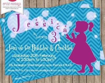 Bubble Party Invitation
