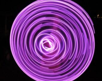 Pink LED Hoop, LED Hoop, HDPE hoop, polypro hoop, rechargeable hoop, travel hoop, collapsible hoop, dance hoop, Moons Of Noor