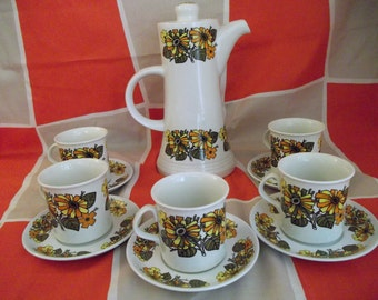 Royal Tudorware Vintage Coffee Set